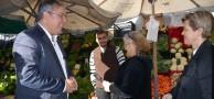 CHP Çankaya Belediye Başkan Aday Adayı Ercan Çuhadar, Çankaya Belediyesi Semt Pazarı Esnaflarını Ziyaret Etti