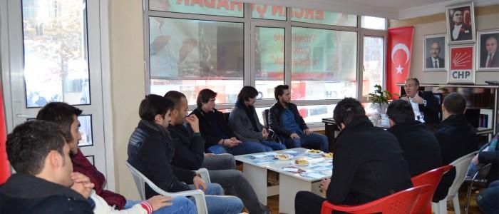 Üniversite Gençliği Çankaya Belediye Başkan Aday Adayı Ercan Çuhadarı Hoşdere Seçim Ofisinde Ziyaret Etti.