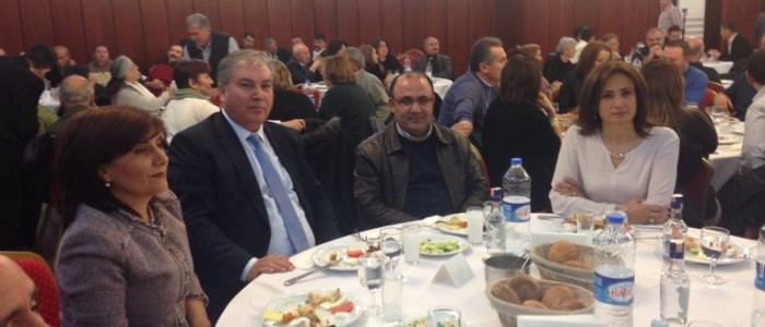 CHP Çankaya Belediye Başkan Aday Adayı Ercan ÇUHADAR Çorum Alaca Kıcılı Köyü Kültür ve Dayanışma Derneği'nin Yemeğine Katıldı.