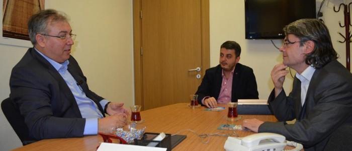 CHP Ankara 1.Bölge Milletvekili A.Adayı Ercan ÇUHADAR İnşaat Mühendisleri Odası'nı ziyaret etti.
