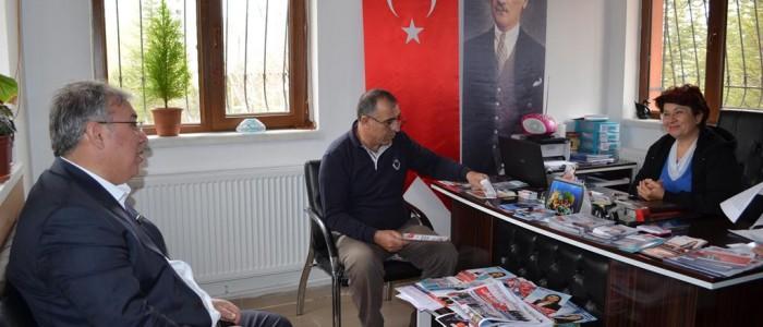 CHP Ankara 1.Bölge Milletvekili A.Adayı Ercan ÇUHADAR Konutkent Mahallesi Muhtarı Rabia BEŞLER'i ziyaret etti.