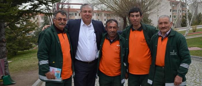 CHP Ankara 1.Bölge Milletvekili A.Adayı Ercan ÇUHADAR Çankaya Belediyesi çalışanlarımızla biraraya geldi.