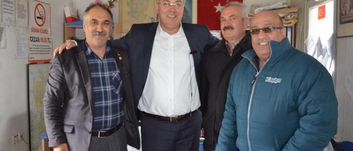 CHP Ankara 1.Bölge Milletvekili A.Adayı Ercan ÇUHADAR İlkbahar Mahallesi Muhtarı Ali TATLI'yı ziyaret etti.